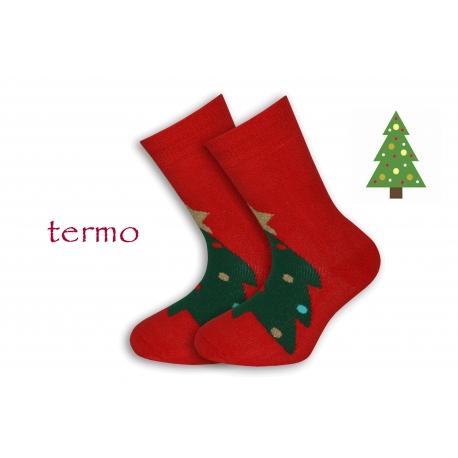 Teplé vianočné ponožky so stromčekom