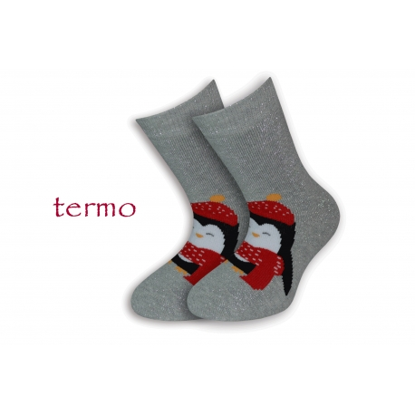 Teplé strieborné vianočné ponožky