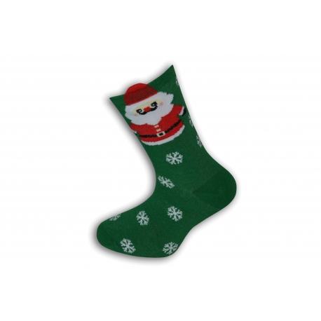 Vianočné ponožky s Mikulášom a vločkami