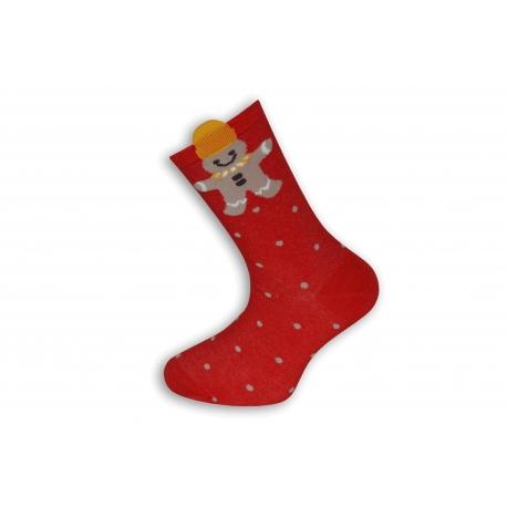 Vianočné ponožky s Perníčkom a vločkami