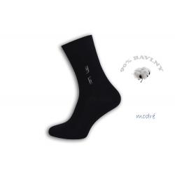 Pánske oblekové modré ponožky