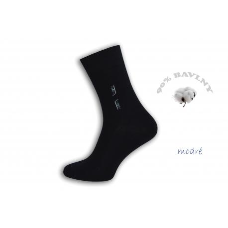 Klasické pánske oblekové modré ponožky 43-46