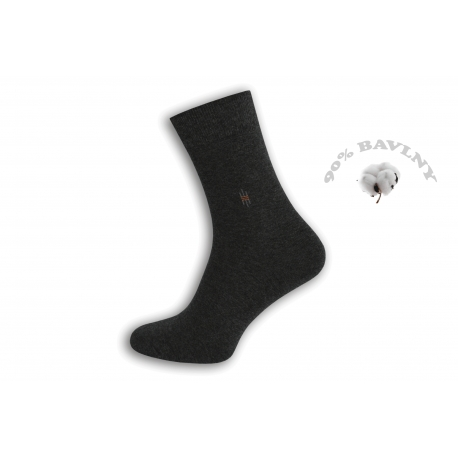 IBA 43-46! Tm. sivé bavlnené pánske ponožky