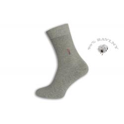 90%-né.Sivé oblekové pánske ponožky