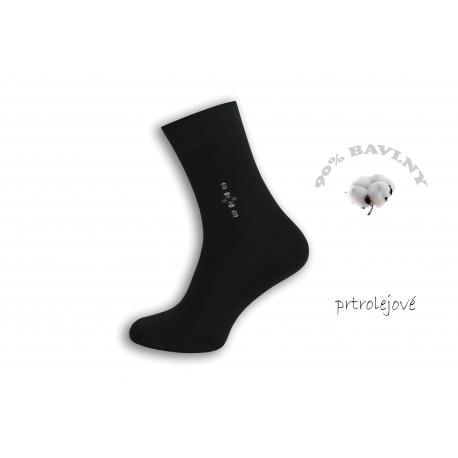 90%-né. Petrolejové oblekové pánske ponožky