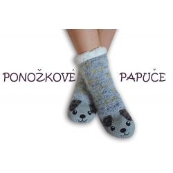 Ponožkové papuče so psíkom