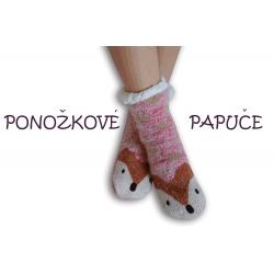 Ponožkové papuče s líškou