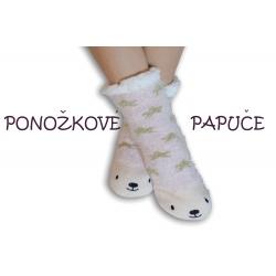 Ponožkové papuče s medvedíkom