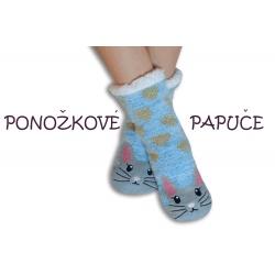 Ponožkové papuče so zajačikom