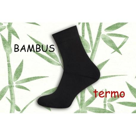 Petrolejové teplé bambusové ponožky