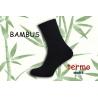 Modré teplé bambusové ponožky