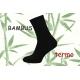Čierne teplé bambusové ponožky