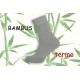 Sivé teplé bambusové ponožky