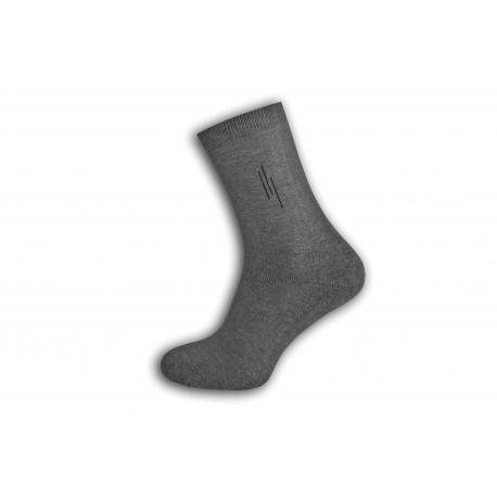Sivé lacné teplé ponožky