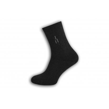 Tmavo sivé pánske teplé ponožky