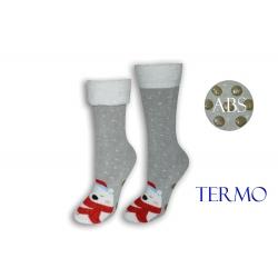 Sivé ponožky s mackom a lemom