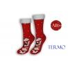 Vianočné červené ponožky s lemom