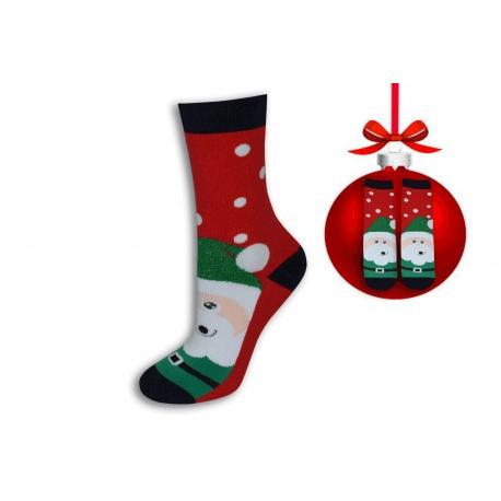 Vianočné ponožky zelený Mikuláš