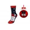 Vianočné ponožky modré s Mikulášom