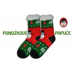 Pánske vianočné huňaté ponožky