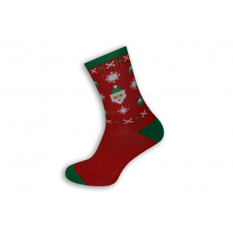 Červené teplé pánske ponožky