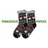Čierne vzorované ponožkové papuče