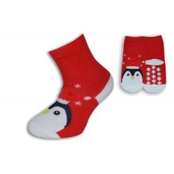 Vianočné ponožky pre deti s tučniakom