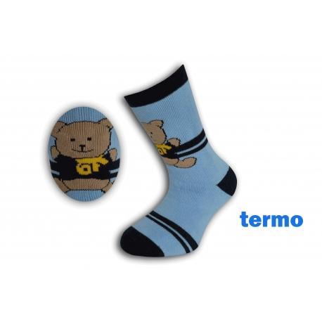 Belasé teplé ponožky s mackom