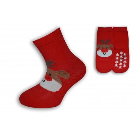 Vianočné ponožky pre deti so sobíkom