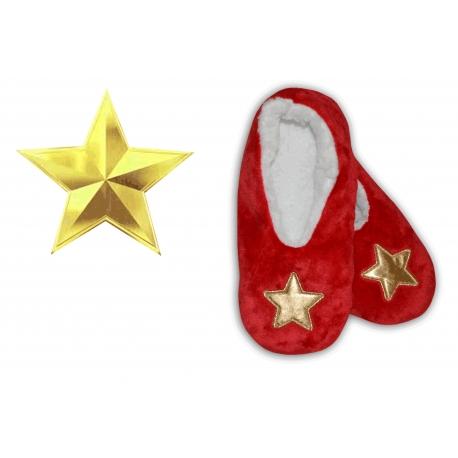 Detské papuče so zlatou hviezdou