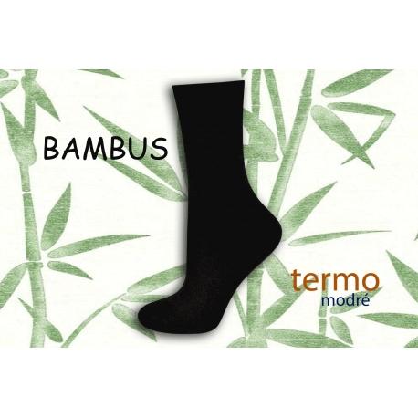 Čierne bambusové teplé ponožky