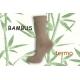 Béžové bambusové termo ponožky