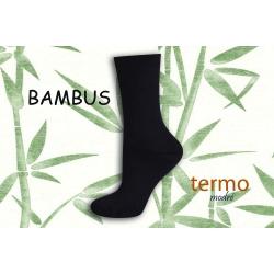 Modré bambusové termo ponožky
