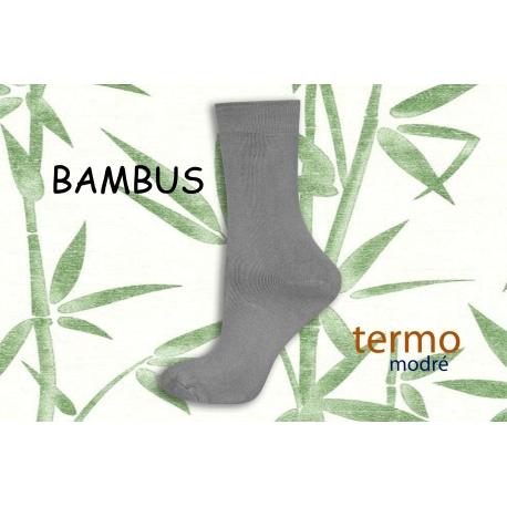 Sivé bambusové termo ponožky