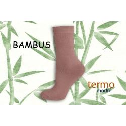 Ružové bambusové termo ponožky