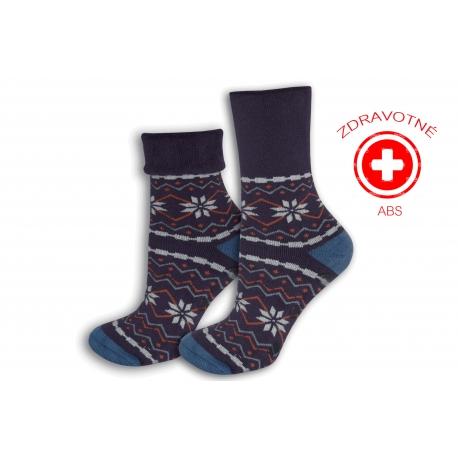 Fialové zdravotné protišmykové ponožky