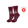 Bordové zdravotné protišmykové ponožky