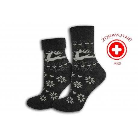 Šedé zdravotné protišmykové ponožky