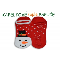 Protišmykové ponožky so snehuliakom