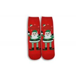 Veselé Vianoce s Mikulášom - červené