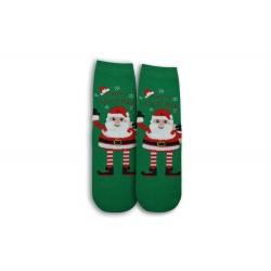 Zelené vianočné dámske ponožky