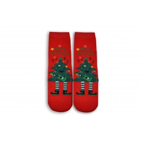 Vianočný stromček na ponožkách