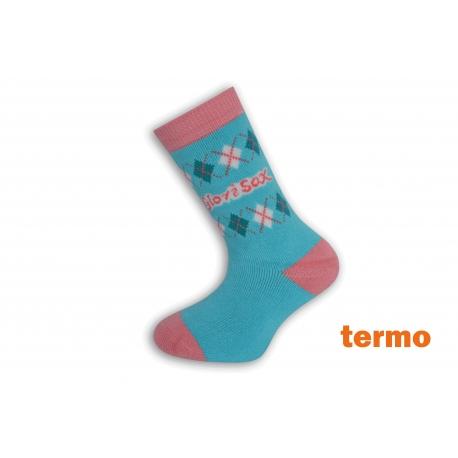 Teplé detské modré ponožky