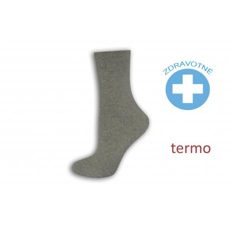 Obľúbené sivé zdravotné ponožky