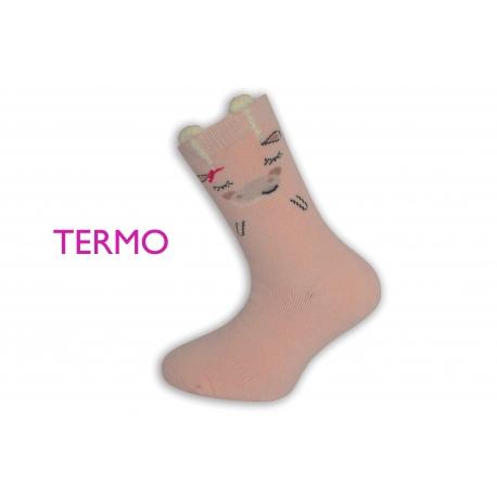IBA 32-35! Ružové teplé ponožky