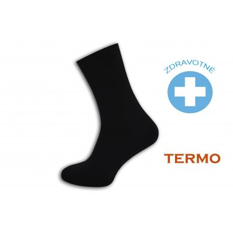Čierne teplé zdravotné ponožky