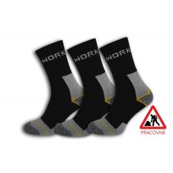 Pracovné pánske ponožky. 3-páry sivé