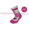 Ponožkové papuče s ABS - tm.ružové