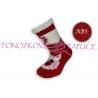 Ponožkové papuče s ABS - červené