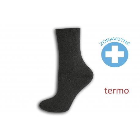 Teplé zdravotné šedé ponožky